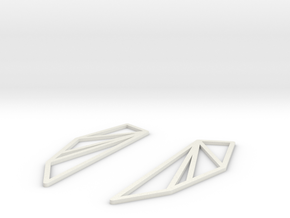 San Francisco Bay Area Earrings in White Natural Versatile Plastic