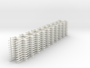 OO9 jubilee track straight 10 x10 in White Natural Versatile Plastic