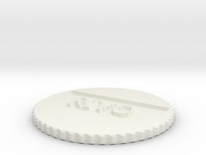by kelecrea, engraved:   RIVO in White Natural Versatile Plastic