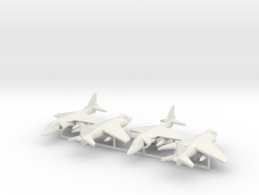 Harrier AV-8B 4x in White Natural Versatile Plastic
