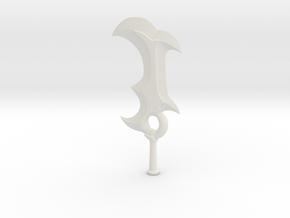 sword  in White Natural Versatile Plastic
