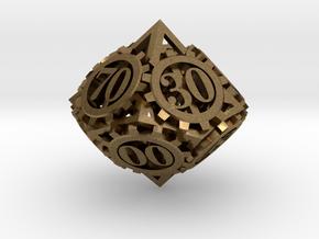 Steampunk Gear d00 in Natural Bronze