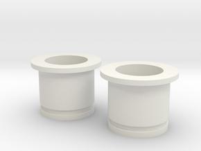Circular Plug Hollow - 000 Gauge in White Natural Versatile Plastic