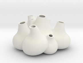 NLpro Flower bulbs groupe(3mm)ceramic in White Natural Versatile Plastic
