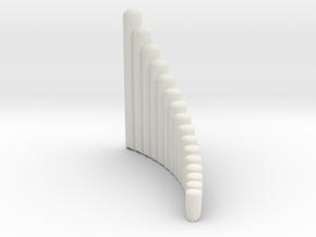 "Right-handed ""Salsero"" wholetone panpipe in White Natural Versatile Plastic"