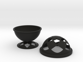 Font Hill Bowl With Crop Circle Cap in Black Strong & Flexible