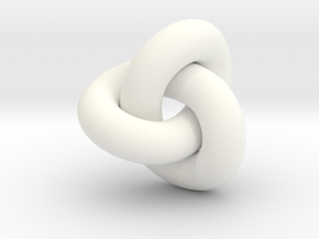trefoil 7mm diam in White Processed Versatile Plastic