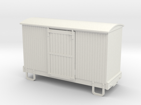55n9 13ft 4 wheeled box car - round roof in White Natural Versatile Plastic