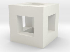 cube hole in White Natural Versatile Plastic