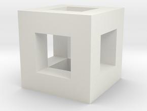 cube hole in White Natural Versatile Plastic