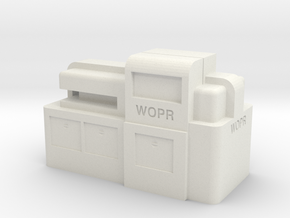WOPR Computer, Small in White Natural Versatile Plastic