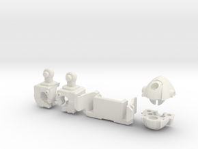 Wrecker Ironfist Kit - No Bullet Hole in White Natural Versatile Plastic
