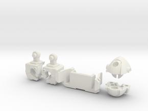 Wrecker Ironfist Kit - No Bullet Hole in White Natural Versatile Plastic