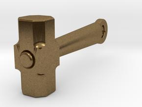 Mini Sledge Hammer Pendant in Natural Bronze