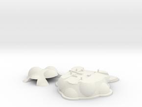 The Pi :: Raspberry Pi Case in White Natural Versatile Plastic