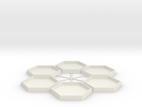 Mapscale Socket Hex in White Natural Versatile Plastic