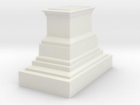 1/160 monument pedestal in White Natural Versatile Plastic