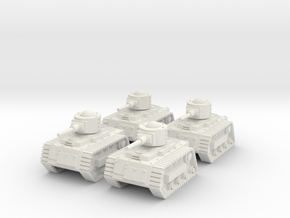 15mm Gobbo Tankettes (x4) in White Natural Versatile Plastic