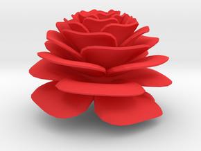 Nylander Rose - 2 Inch Diameter, Solid in Red Processed Versatile Plastic