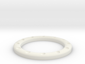 replacement watch bezel v0.0 in White Natural Versatile Plastic