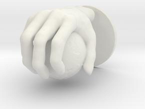 Hand globe Medium in White Natural Versatile Plastic
