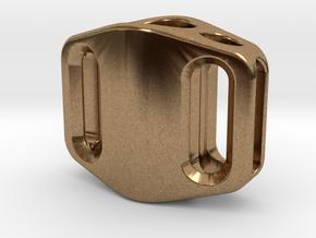 Pedal Bead Ver.2: Tritium (Silver/Brass/Plastic) in Natural Brass