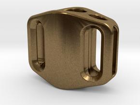 Pedal Bead Ver.2: Tritium (Silver/Brass/Plastic) in Natural Bronze