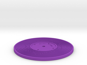 Double sided - Fisher Price record (5mm) in Purple Strong & Flexible Polished