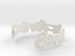 Love Is Forever Bracelet in White Natural Versatile Plastic