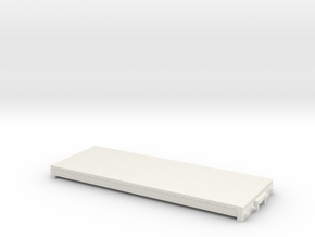 On30 14ft 4w basic flat car in White Strong & Flexible