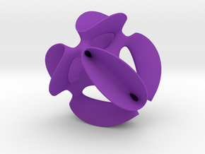 A smoothed Kummer Surface, 6.9cm (2.7in) in Purple Processed Versatile Plastic