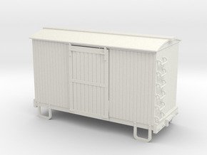 On30 14ft 4w box car round roof in White Strong & Flexible