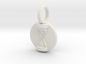 Dr Hooves Pendant in White Natural Versatile Plastic