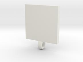 QR code pendant in White Natural Versatile Plastic