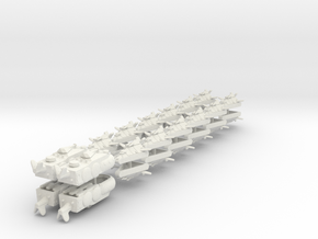 UK Ground Support Fleet (28 ships) 6mm in White Strong & Flexible