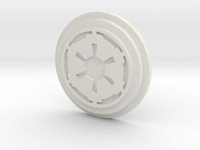 Imperial Logo Pommel Insert1 in White Natural Versatile Plastic