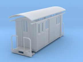 HOn30 Small RPO baggage car in Frosted Ultra Detail