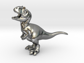 Allosaurus chubbie krentz 1 in Polished Silver