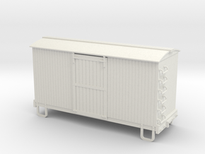 On30 16ft Box car (round roof)  in White Strong & Flexible
