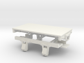 On30 8ft 4w flat car  in White Natural Versatile Plastic