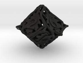 Botanical d10 (Oak) in Black Natural Versatile Plastic