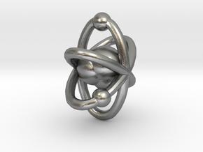 Atom pendant 1 in Natural Silver