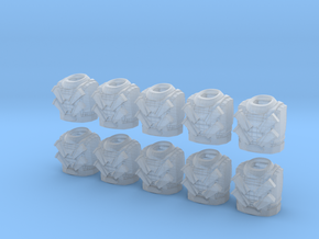 Scale Mail Torsos - 10, 28mm Figurine in Smooth Fine Detail Plastic