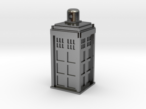 TARDIS Necklace/Charm Silver in Polished Silver
