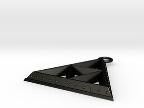 Pendant - TriForce (Bumps) in Matte Black Steel