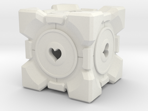 Companion Cube Straight in White Natural Versatile Plastic
