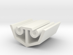4 Sided Extrusion in White Natural Versatile Plastic