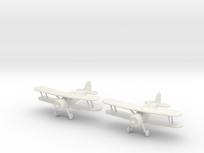 1/200 Gloster Gladiator M.II (x2) in White Natural Versatile Plastic