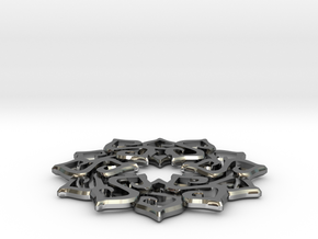 Nimyade Star Pendant in Fine Detail Polished Silver