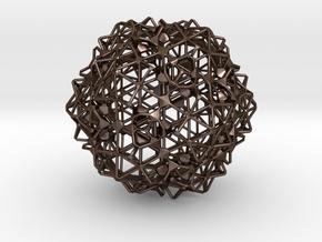 Sphere3 in Polished Bronze Steel